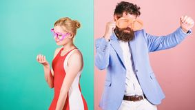 Summer vacation and fashion. Office party. Best friends. Problem. S in relations. couple in party glasses. Frienship of men and woman. Hipster. i dont love you stock photos