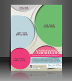 Summer Vacation Flyer Design Stock Photography