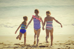 Summer Vacation fun at the Beach Stock Image