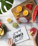Summer Vacation Fun Fresh Concept Stock Photography