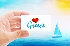Summer Vacation on Greece Beach Stock Photo