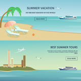 Summer vacation greeting card design Royalty Free Stock Images