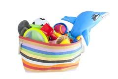 Summer vacation or holiday beach bag Stock Photos