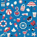 Summer vacation holiday seamless pattern. Royalty Free Stock Photo