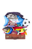 Summer vacation or holiday suitcase Stock Photos