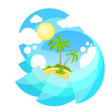 Summer Vacation Holiday Tropical Ocean Island Palm Royalty Free Stock Photo