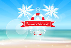 Summer Vacation Holiday Tropical Ocean Island With Stock Image
