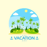 Summer Vacation Holiday Tropical Ocean Island With Stock Photo