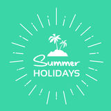 Summer Vacation Holiday Tropical Ocean Island With Palm Tree Stock Image