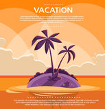 Summer Vacation Holiday Tropical Sunset Ocean Royalty Free Stock Photos