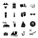 Summer vacation icons set Royalty Free Stock Photos