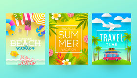 Summer vacation illustration Royalty Free Stock Images