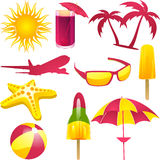 Summer vacation labels Stock Photos