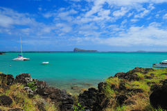 Summer Vacation at Mauritius stock images