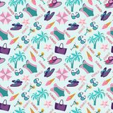 Summer vacation pattern in beach style. Stock Photos