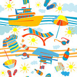 Summer vacation pattern Stock Photo