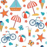 Summer vacation pattern. Vector illustration Royalty Free Stock Image