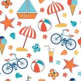 Summer vacation pattern Royalty Free Stock Image