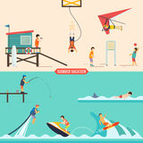Summer vacation people set. Colorful vector graphics, eps 10 Stock Image