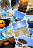 Summer vacation photos Royalty Free Stock Photography