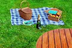 Summer Vacation Picnic Scene Royalty Free Stock Photos