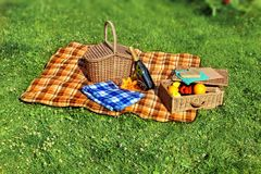 Summer Vacation Picnic Scene Stock Image