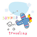 Summer vacation plane Stock Photos
