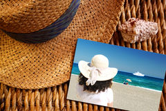 Summer Vacation Postcard Royalty Free Stock Image