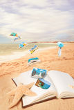 Summer Vacation Postcards Stock Images