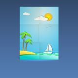 Summer vacation poster. Royalty Free Stock Images