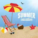 Summer vacation poster design Royalty Free Stock Photography