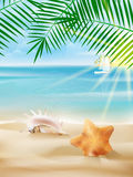 Summer vacation poster template. Stock Photography