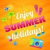 Summer Vacation Poster Stock Image