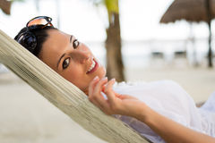 Summer vacation relax and rest  at the beach Royalty Free Stock Photos