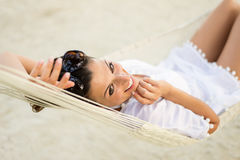 Summer vacation relax and rest  at the beach Royalty Free Stock Photography