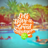 Summer vacation retro type design Royalty Free Stock Image