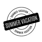 Summer Vacation rubber stamp Stock Photos
