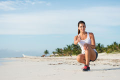 Summer vacation running workout success Royalty Free Stock Images