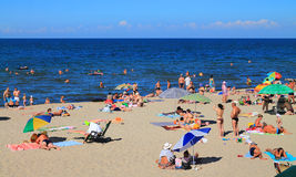 Summer vacation on the sandy beach of the Baltic Sea Royalty Free Stock Photography