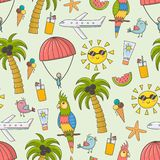 Summer vacation seamless pattern Stock Photography