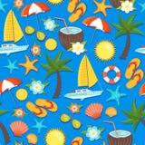 Summer Vacation Seamless Pattern Stock Image