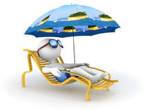 Summer vacation: seaside relaxation Royalty Free Stock Photo