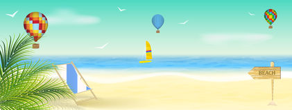 Summer vacation at the seaside,  wallpaper Stock Images