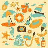 Summer vacation set Royalty Free Stock Images