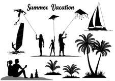 Summer Vacation Set Royalty Free Stock Photo