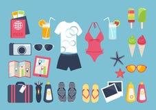 Summer vacation set Royalty Free Stock Image