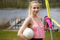 Summer vacation, sport and people concept Stock Images