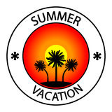 Summer vacation stamp Stock Photos