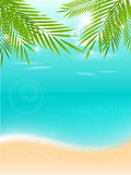 Summer vacation tropical background Royalty Free Stock Photo