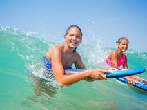 Summer vacation - surfer girls. Royalty Free Stock Image